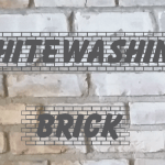 Whitewashing a Brick Fireplace