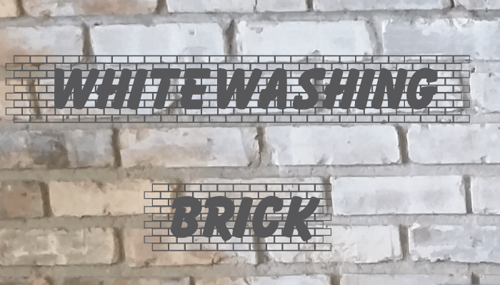 DIY whitewashing brick fireplace