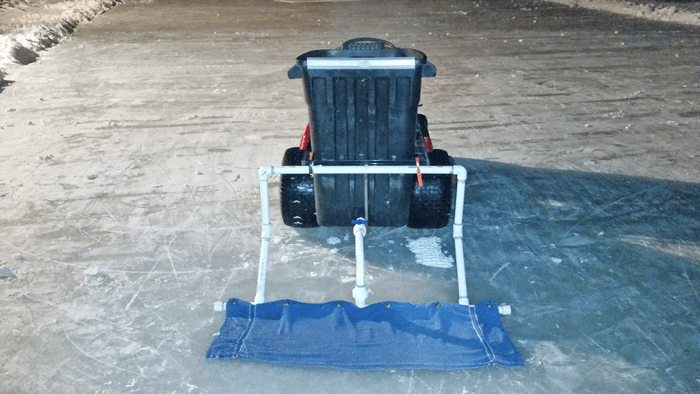how to make a zamboni DIY lawn mower