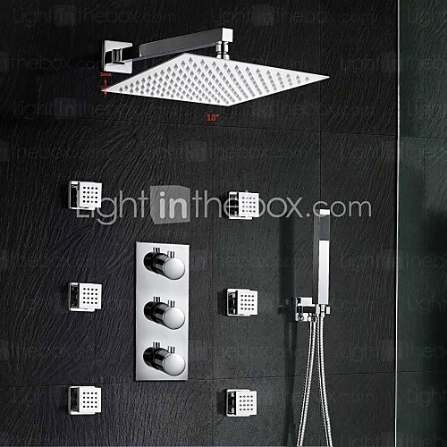 Square shower head body jets sprayer