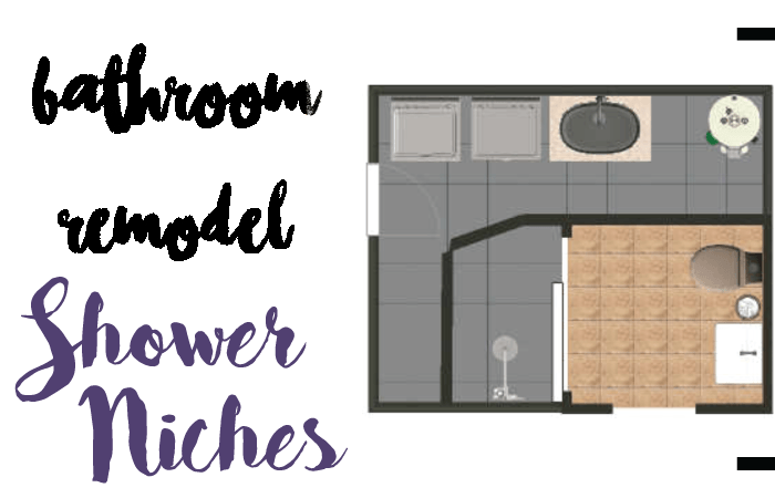 DIY shower niches inset