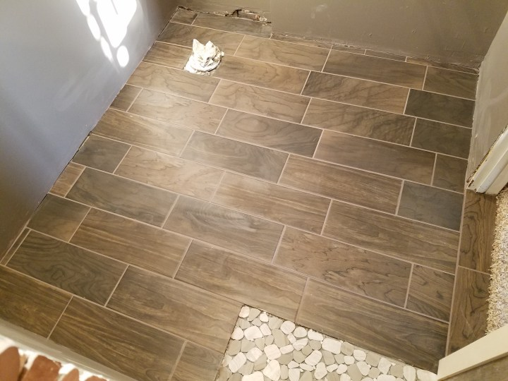 DIY shower floor