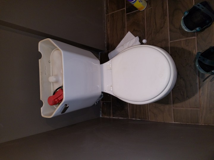 DIY bathroom toilet install