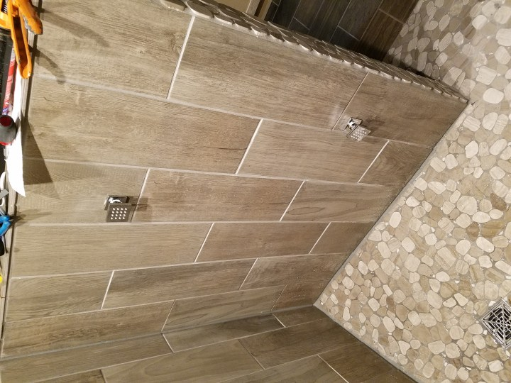After Grout Shower Walls