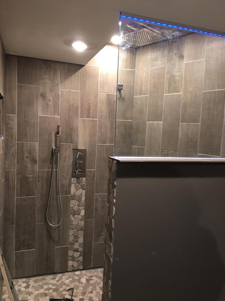DIY shower glass