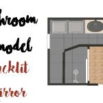 Bathroom Remodel: DIY Backlit Mirror