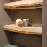 DIY rustic shelf styled shells