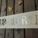 DIY Up North reclaimed wood sign