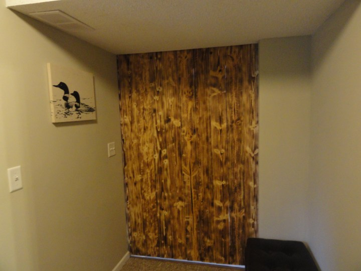dark DIY wood barn door