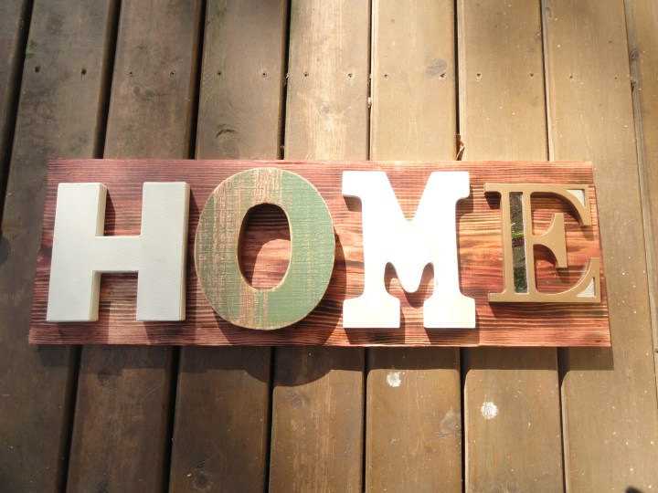 DIY reclaimed wood signs HOME