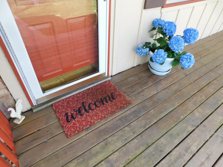 hydrangeas house plants outdoors welcome mat