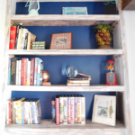 DIY built-in bookshelves right side
