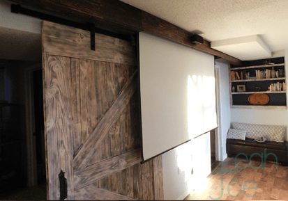 movie screen barn door
