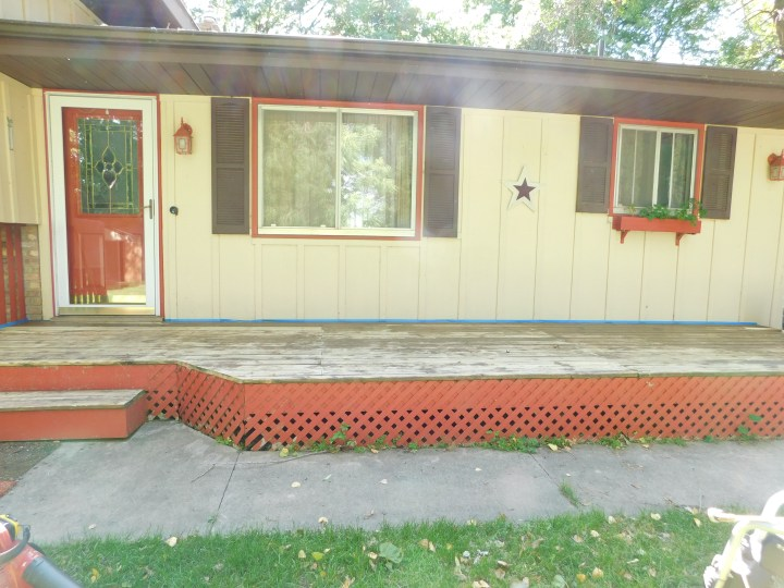 DIY front porch makeover before