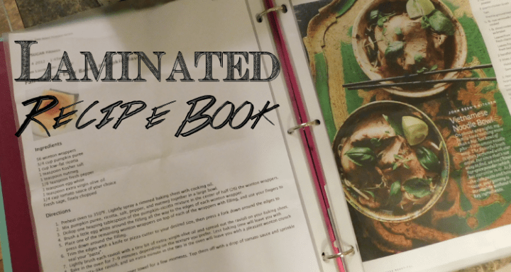 Laminated Recipe Book DIY