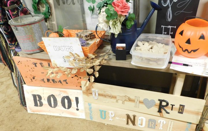 Halloween signs rustic DIY Lucille's Vintage Market Running Aces home decor