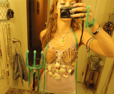 DIY Mermaid and Pirate Halloween Costume