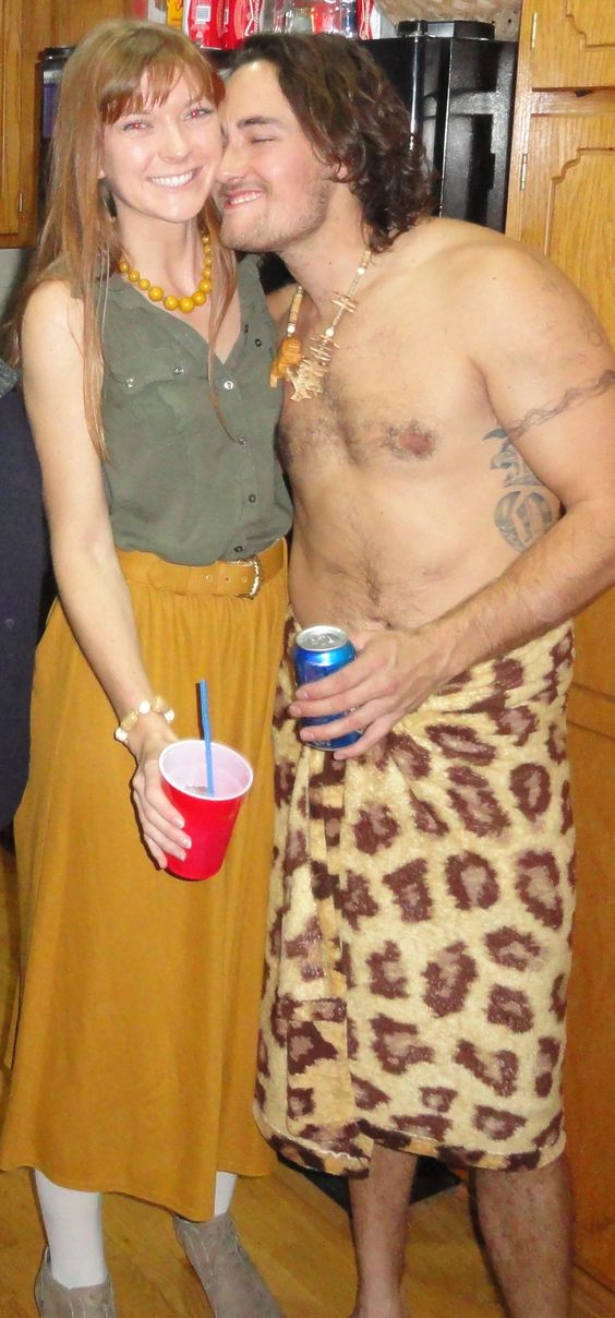 Halloween costumes leah and joe home diy projects crafts tarzan and jane costume diy solutioingenieria Images