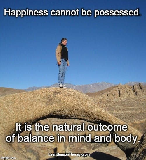 LeahBensonTherapy.com Blog Post happiness cannot be possessed