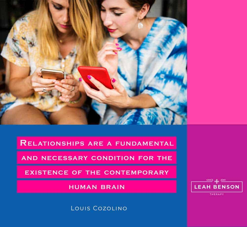 """""""Relationships are a fundamental and necessary condition for the existence of the contemporary human brain"""" Louis Cozolino"""