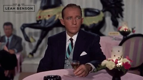 Bing Crosby at table