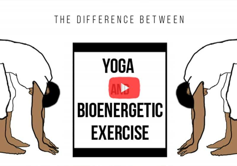 Illustration of Yoga and bioenergetic exercises.