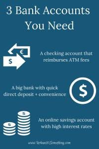 With all the choices in banks, it's hard to know which accounts you need and which are too much. Click through to learn the 3 essential bank accounts you need to rock your personal finances.