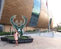 The new Buck's Stadium, the Fiserv Forum, in Milwaukee, Wisconsin