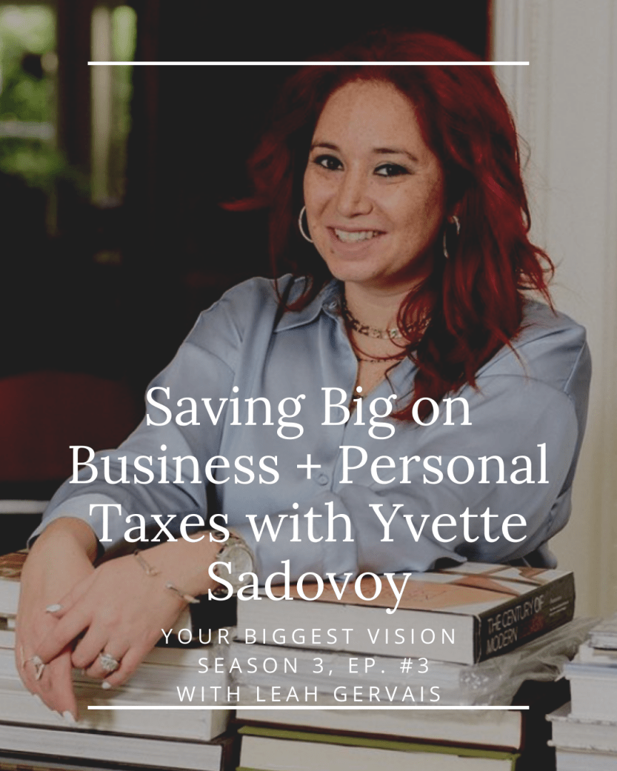 Yvette Sadovoy, founder of Savvy & Suite Ltd., shares her entrepreneurial journey and most creative tax deduction tips for entrepreneurs!