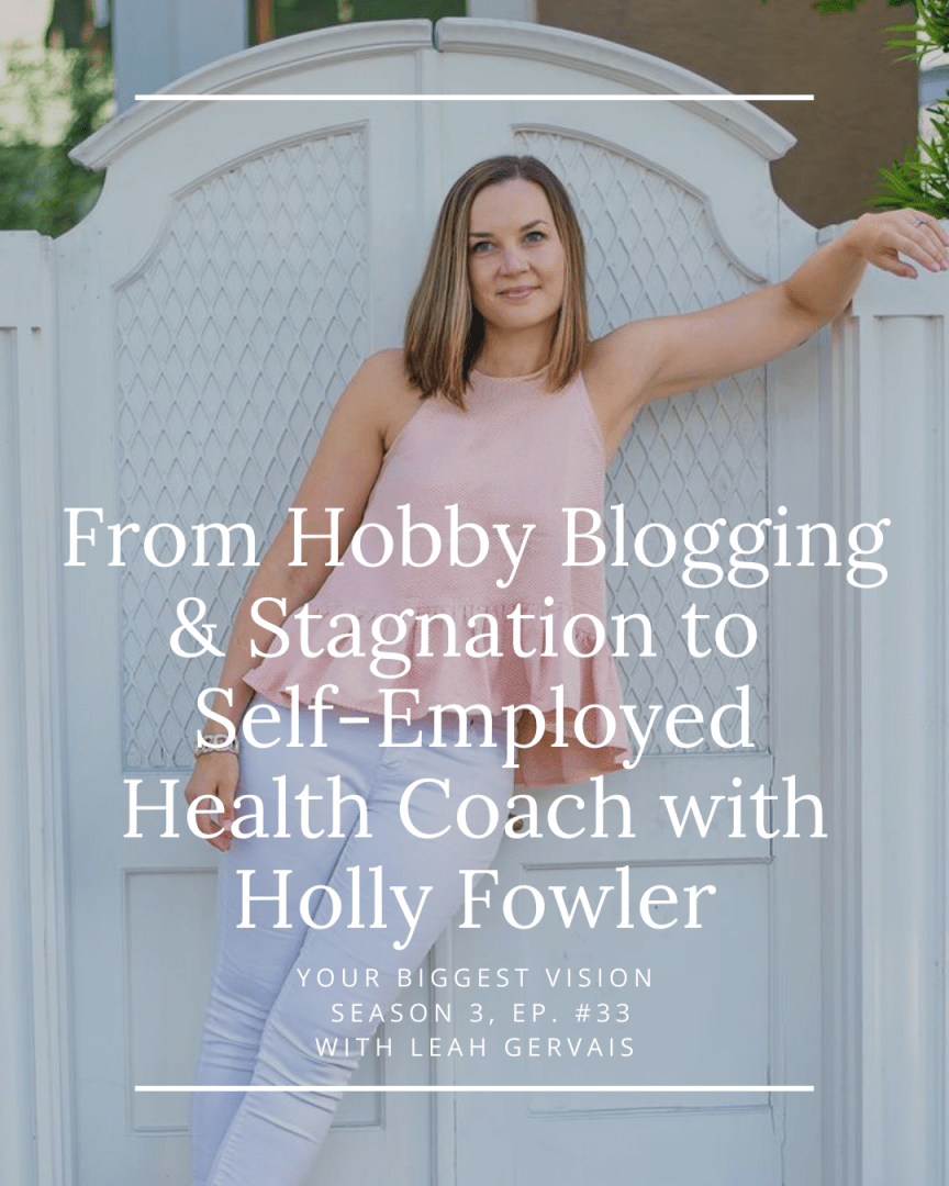 If you want to sustain your business growth by mastering your health and energy, today's episode, with Holly Fowler is for you!