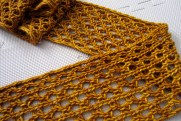 Lengthy Lace Scarf Blocked