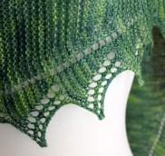 Simple Spring Shawl closeup
