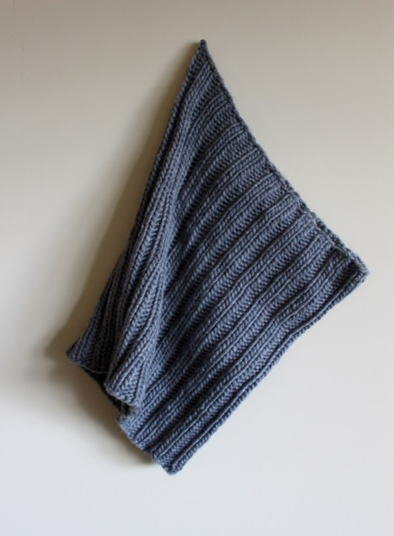 Chunky Ribbed Cowl hanging