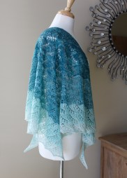 Cloudy Skies Shawl side