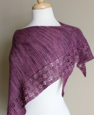 Eyelet Chain Shawl side