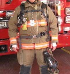 morgan in full firefighting gear  [ 823 x 1461 Pixel ]