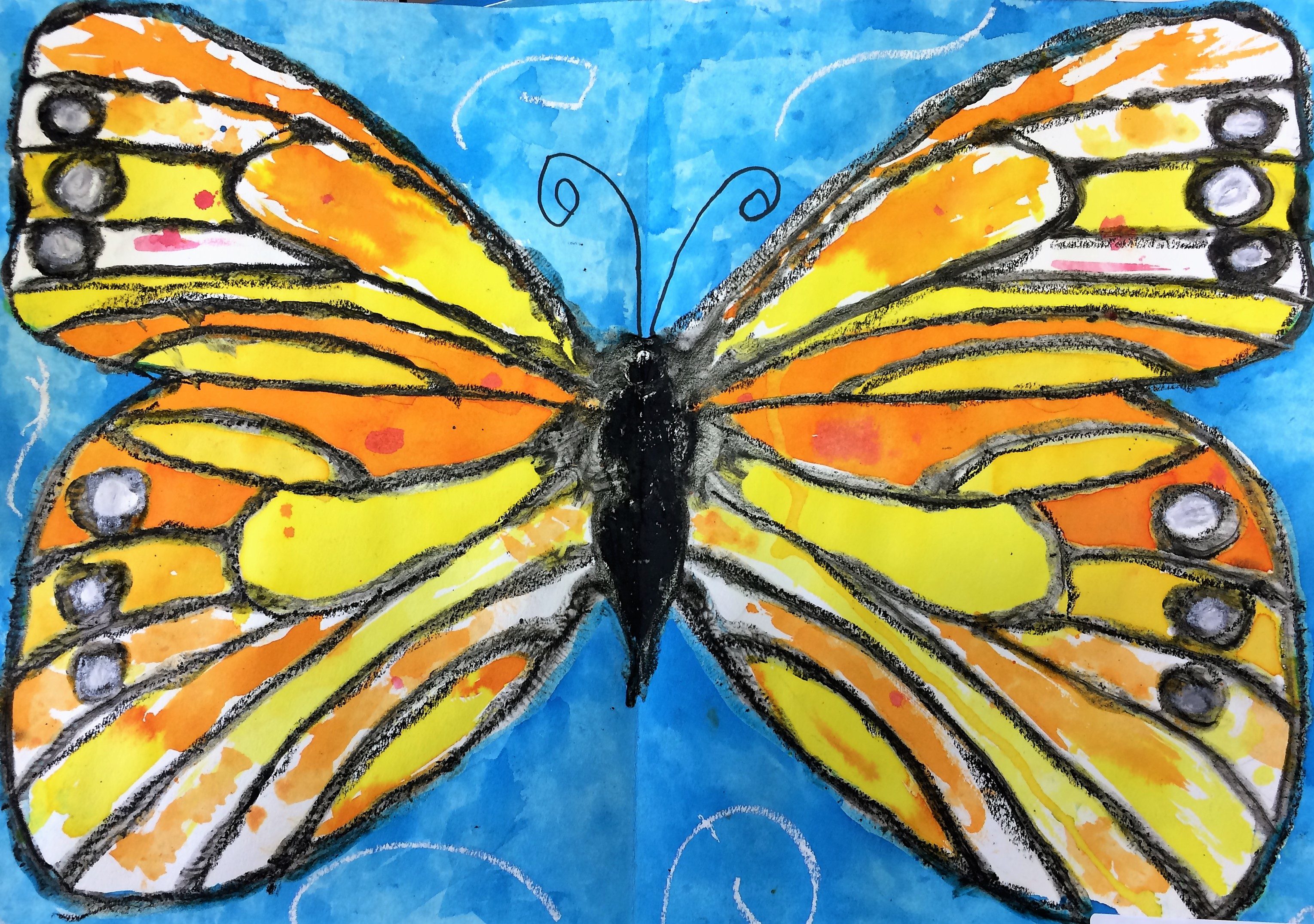 Monarch Butterfly Art Lesson For Kids
