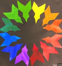 Middle School Creative Color Wheel Art Lesson for kids - Leah Newton Art [ 2759 x 2751 Pixel ]
