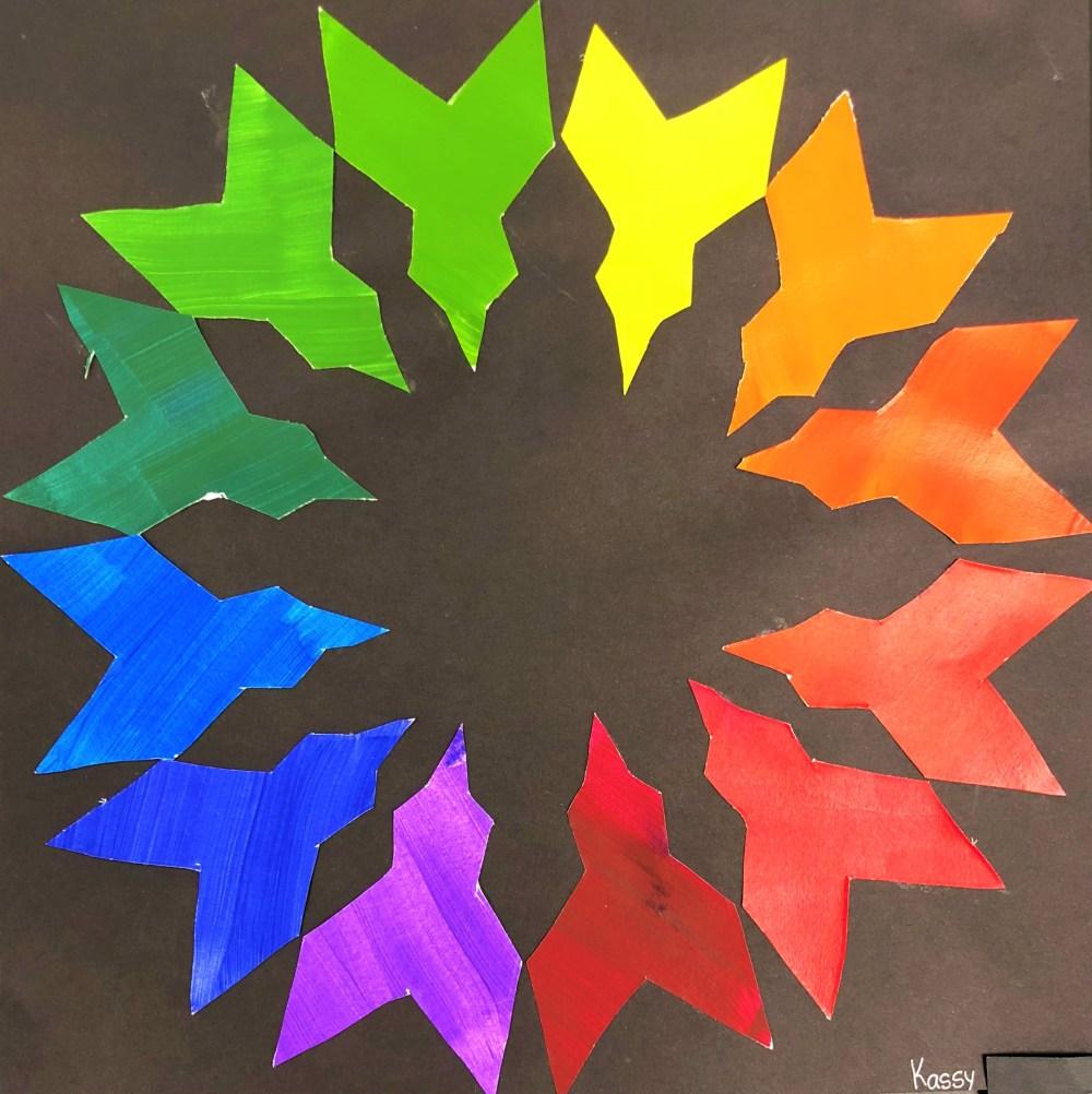 medium resolution of Middle School Creative Color Wheel Art Lesson for kids - Leah Newton Art