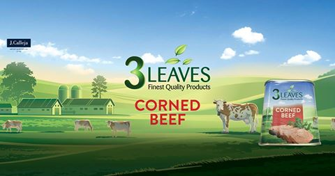 3 leaves corned beef