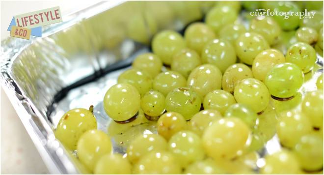 Grapes, at the end of their season here are delicious roasted as a side