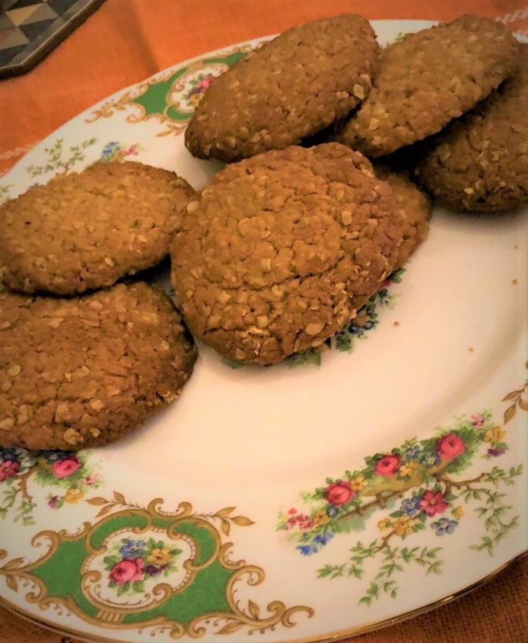 anzac cookies plate
