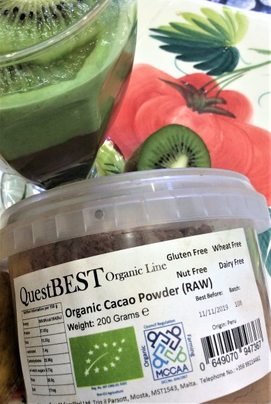 Smoothie Duo with Oats and Raw Cacao 2