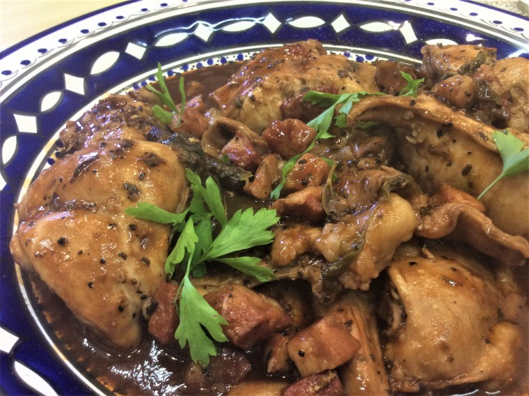maltese rabbit with garlic wine cooked 2