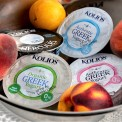 A selection of plain Greek yoghurts by Kolios