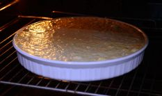 In the oven