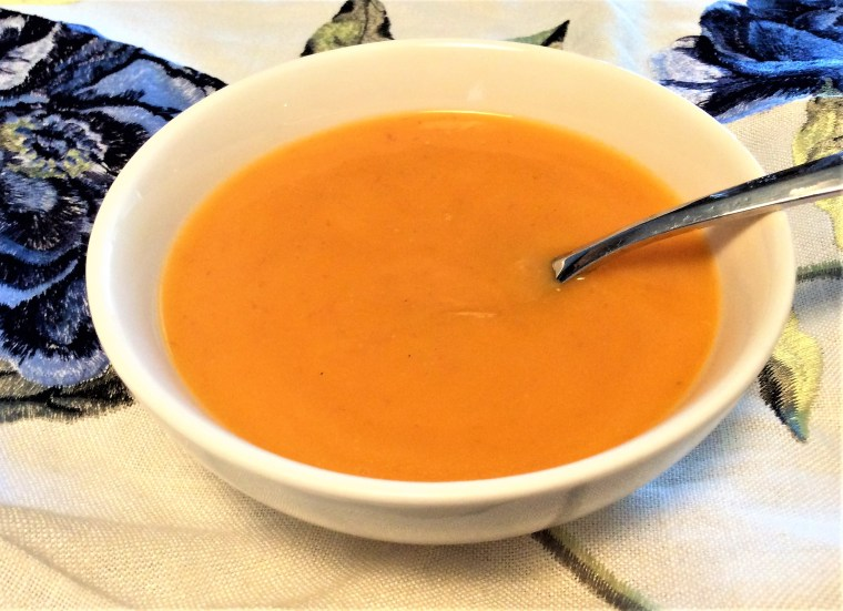 carrot coconut curry soup 3