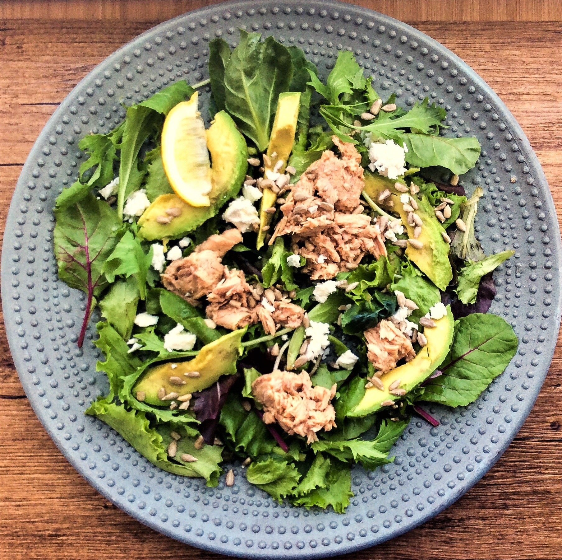 Avocado Tuna Feta Salad by Lea Hogg