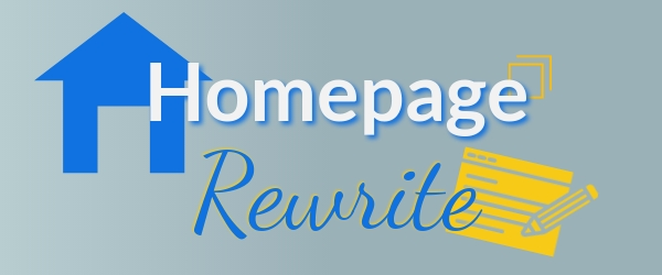 homepage copy rewrite