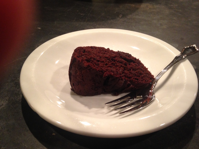 Slice of Dark Chocolate Beet Cake